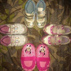 3 Pairs Kids Sneakers + Slippers